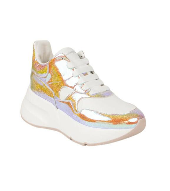 Item - White Glitter 6.5/36.5 Sneakers Size US 6.5 Wide (C, D)