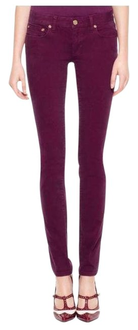 Item - Purple Dark Rinse Ivy Super In Fuchsia Skinny Jeans Size 29 (6, M)