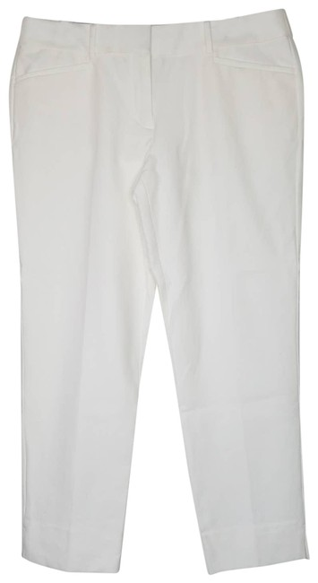 Item - White Riviera The Marisa Fit Cotton Blend Pants Size 12 (L, 32, 33)