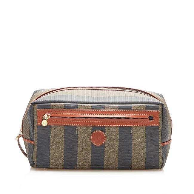 Item - Pequin Brown Leather Clutch