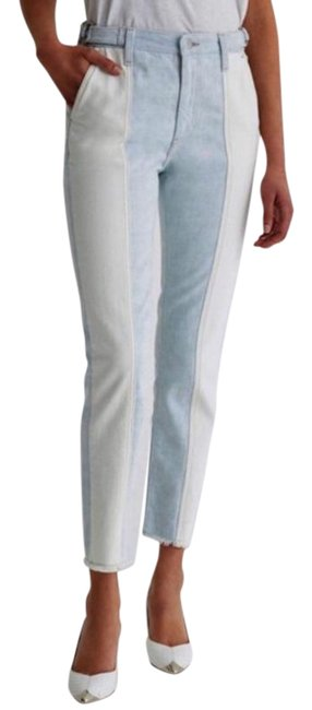 Item - Blue Light Wash The Isabelle Panelled High Rise New Straight Leg Jeans Size 25 (2, XS)