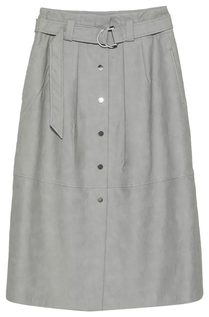 Item - Gray New Faux Leather High Waister Skirt Size 2 (XS, 26)