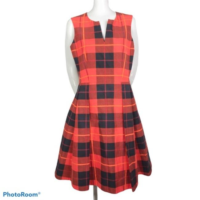 Item - Red Black Woodland Short Casual Dress Size 8 (M)