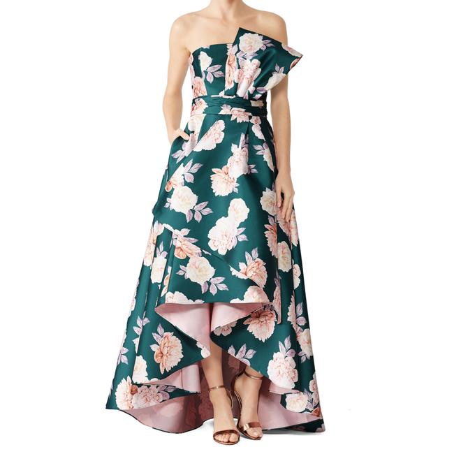Item - Pink and Green Mia Gown Long Formal Dress Size 8 (M)