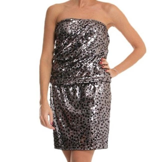 Item - Silver Gray Sasha Sequin Short Night Out Dress Size 8 (M)