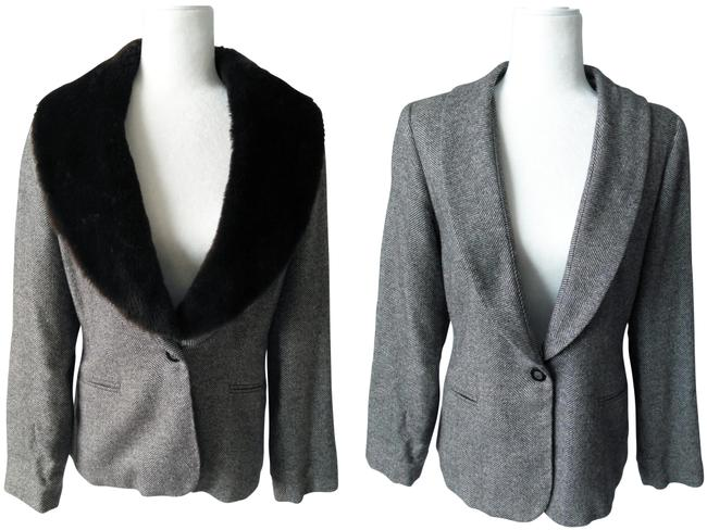 Item - Shades Of Brown/Grey Tweed Bouclé Blazer Size 8 (M)