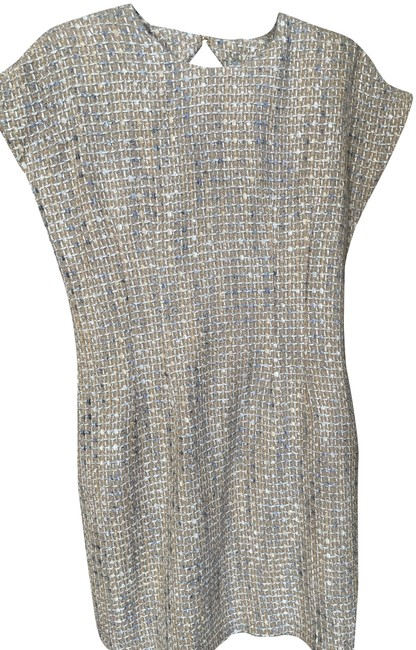Item - Cream/Gold Spring Short Night Out Dress Size 6 (S)