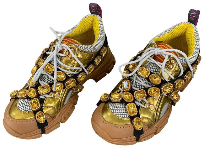 Item - Gold W Flashtrek W/Crystals Sneakers Size US 8 Regular (M, B)