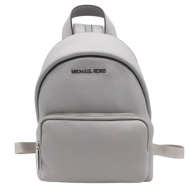 Item - Erin Small Convertible Pearl Grey Leather Backpack