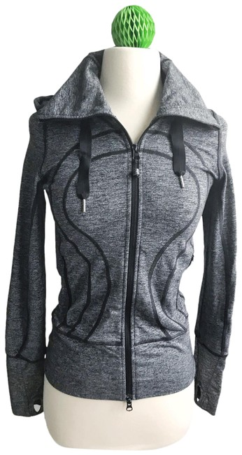 Item - Black Grey Similar To Stride Hooded Activewear Outerwear Size 2 (XS)