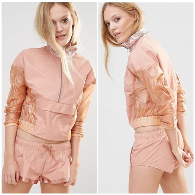 Item - Peach Blush Orange Pink Movement Shape Shifter Windbreaker Activewear Outerwear Size 4 (S)