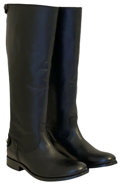 Item - Black Women`s Melissa Button Leather Riding Boots/Booties Size US 6 Regular (M, B)