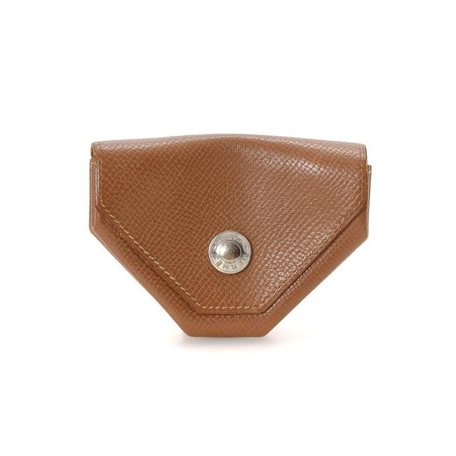 Item - Tan Leather Coin Purse Wallet
