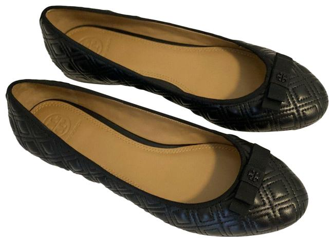 Item - Black Marion Leather Quilted Ballet Flats Size US 8 Regular (M, B)
