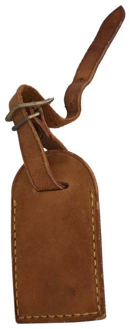 Item - Brown Leather Luggage Id Tag Name Tag Travel Carry On
