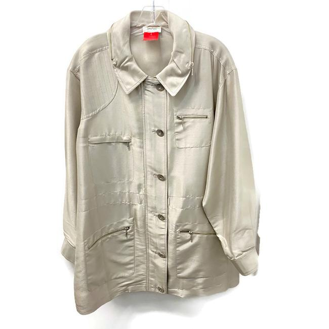Item - Tan Utility Jacket Size 12 (L)