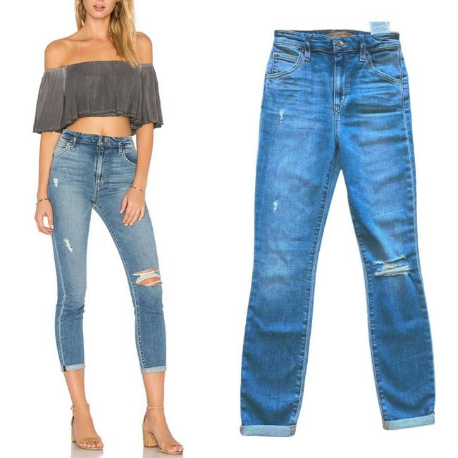 "Item - Blue Light Wash The Bella High Rise 11"" Crop Mailou Revolve Skinny Jeans Size 24 (0, XS)"