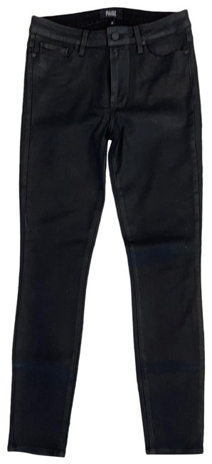 Item - Black Coated Hoxton Ankle Skinny Jeans Size 6 (S, 28)