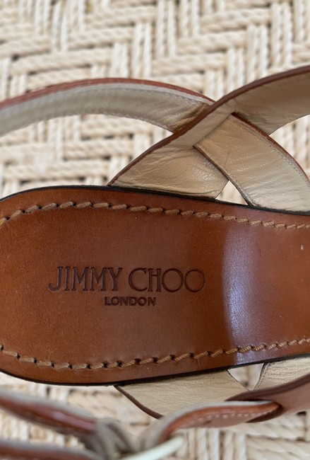 Jimmy Choo Saddle & White Tri-color Wooden Wedges Size US 8.5 Regular (M, B) Jimmy Choo Saddle & White Tri-color Wooden Wedges Size US 8.5 Regular (M, B) Image 12