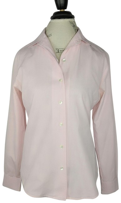 Item - Pink Gingham Shirt Button-down Top Size 4 (S)