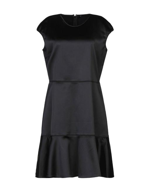 Item - Black Structured Fitted Cap Sleeve Short Cocktail Dress Size 2 (XS)