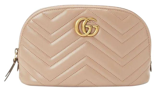 Item - Beige Marmont Gg Beauty Cosmetic Bag