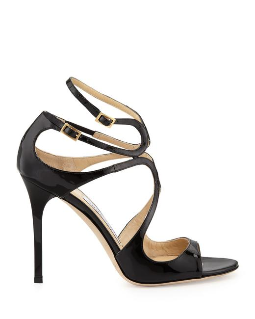 Item - Patent Black Lang Celebs Slim (Se26) Sandals Size EU 37 (Approx. US 7) Regular (M, B)