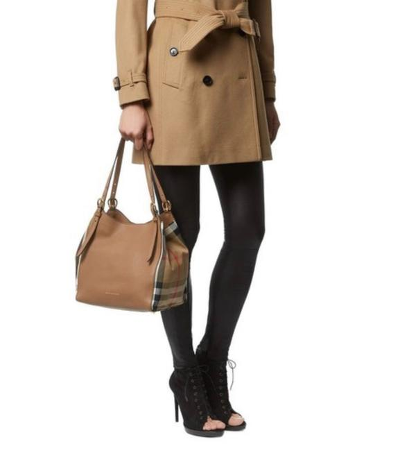 Item - Bag House Check Durby Canterbury Brown Leather Tote
