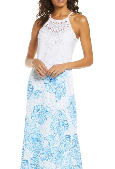 Item - White Pearl Soft Long Casual Maxi Dress Size 12 (L)