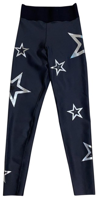 Item - Black with Silver Stars Pants Size 4 (S, 27)