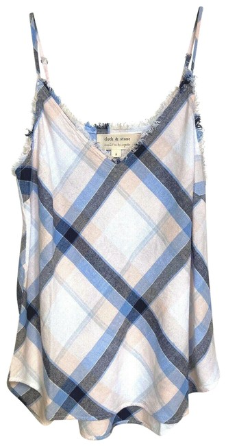 Item - Multicolor Anthropologie Fray Edge Plaid S 88 Tank Top/Cami Size 4 (S)