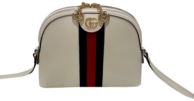 Item - New Ophidia Small White Leather Shoulder Bag