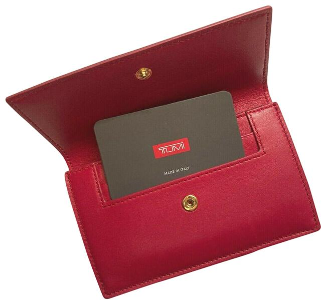 Item - Pink Small Slim Envelope Leather Made In Italy Wallet