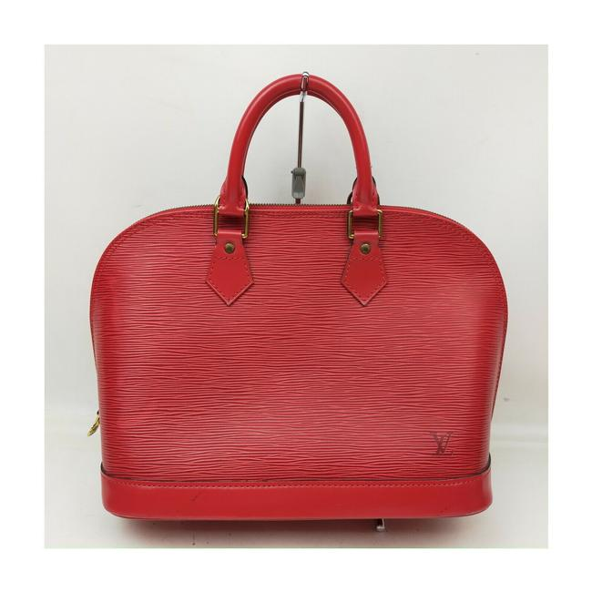 Item - Alma Hand M52147 Reds Epi Red Leather Tote