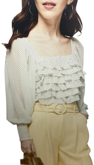 Item - Cream with Black Dots Collection Blouse Size 4 (S)
