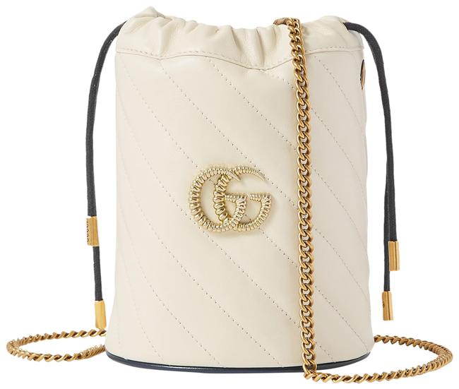 Item - Bucket Marmont Gg Mini Quilted White Leather Cross Body Bag