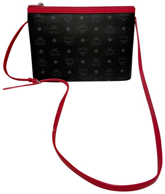 Item - New - Visetos Skyoptic Pouch Black/Red Coated Canvas Cross Body Bag