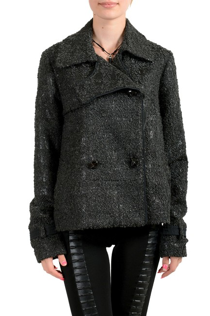 Item - Black C'n'c Women's Double Breasted Jacket Size 8 (M)