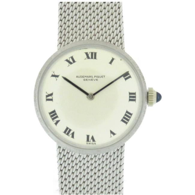 Item - Solid Gold Antique Hand-wound K18wg 750 Silver Dial Vintage Ladies Watch
