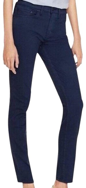 Item - Blue Dark Rinse Full Length Navy Skinny Jeans Size 23 (00, XXS)