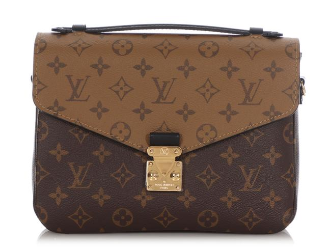 Item - Pochette Metis Monogram Reverse Brown Coated Canvas Clutch