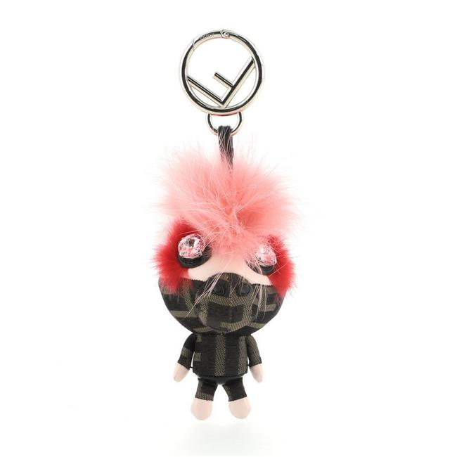 Item - Brown Pink Space Monkey Bag Charm Zucca Canvas with Leather and Fur