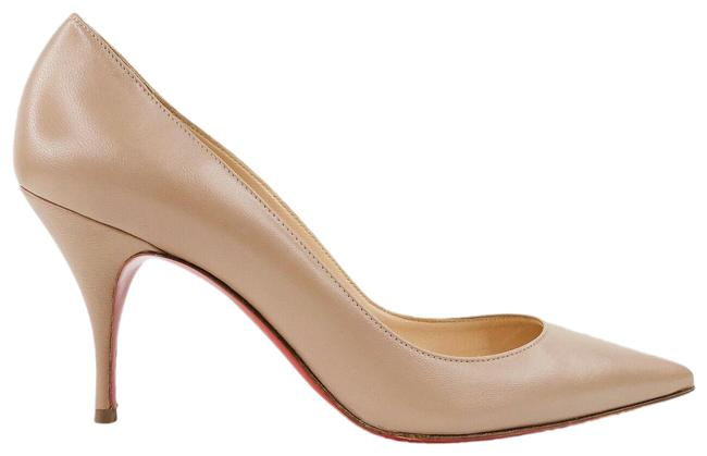 Item - Nude Clare Leather Pointed Toe Pumps Size EU 38 (Approx. US 8) Regular (M, B)