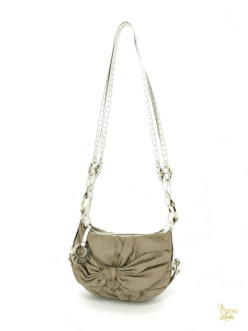 Item - Knotted Chef White Trim #34247 Beige Canvas Cross Body Bag