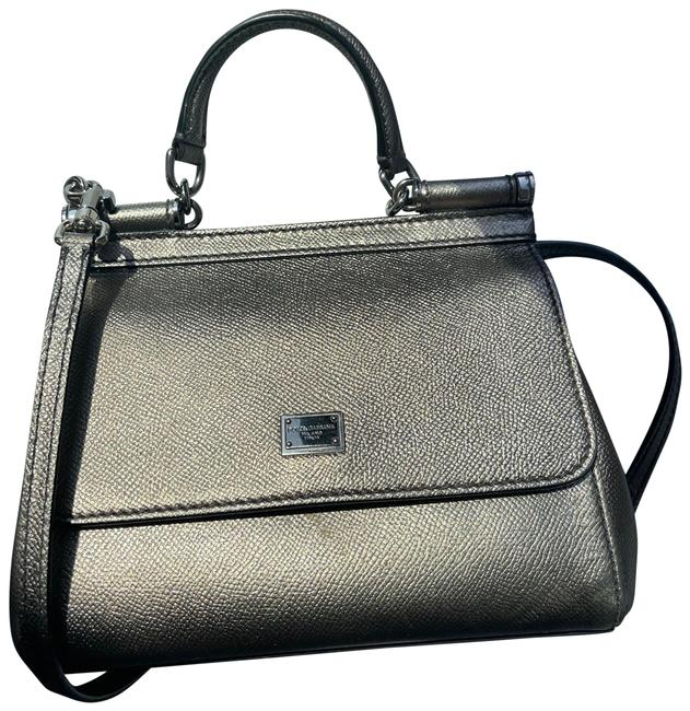 Item - Mini Sicily Gray Leather Cross Body Bag