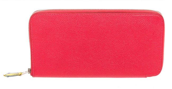 Item - Red Epsom Leather Silkin Classic Wallet