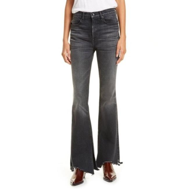 Item - Black Gray Nina High Flare Leg Jeans Size 23 (00, XXS)