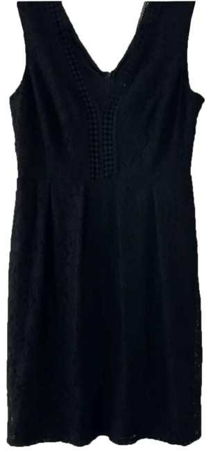 Item - Black Sleeveless Floral Lace Overlay Cocktail Dress Size 14 (L)