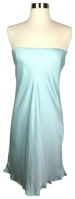 Item - Strapless Slip Mini Small Eggshell Satin Revolve Night Out Dress Size 6 (S)