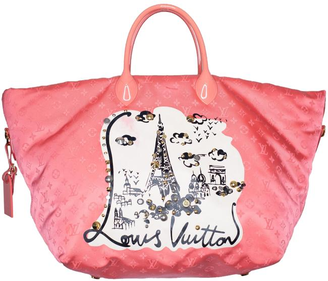 Item - Monogram Vague Pink Beach Bag